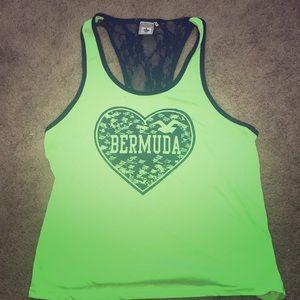 Neon green Bermuda tank top